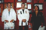 Dave Strong, Ken, and Charlie York after Dave and Charlie's promotion to Instructors.